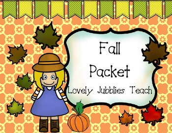 Fall Packet: Clipart, Digital Paper and More