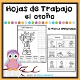 Fall Literacy Packet in Spanish