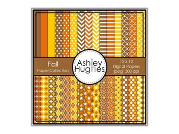 12x12 Digital Paper Set: Fall Collection {A Hughes Design}