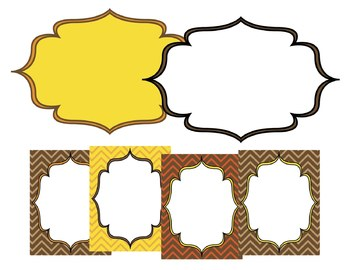 Fall Paper & Frames Set: Graphics for Teachers in Fall/Thanksgiving Colors