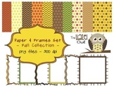 Fall Paper & Frames Set: Graphics for Teachers in Fall/Tha