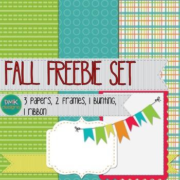 Fall Paper and Frame Freebie Set