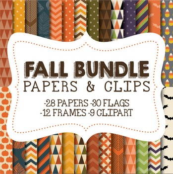 Fall Papers & Clipart Bundle