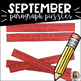 Fall Paragraph Puzzles