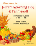Fall Parent Day/Night Flyer Template