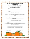 Fall Parent Teacher Conference Note
