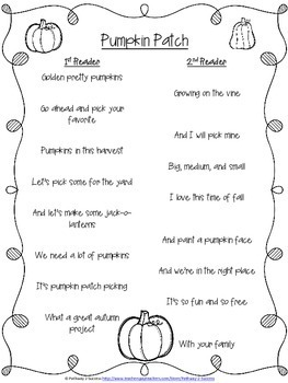 Fall and Halloween Partner Poems