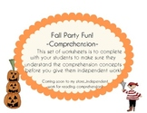 Fall Party Fun! Comprehension Overview