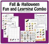 Fall & Halloween Learning & Fun: Addition, Patterns, Graphing, Writing, BINGO