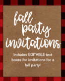Fall Party Invitation Template FREEBIE