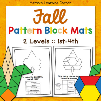 Fall Pattern Block Mats By Mama's Learning Corner TpT Magnificent Pattern Block Mats
