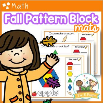 Fall Pattern Block Mats Preschool / Pre-K