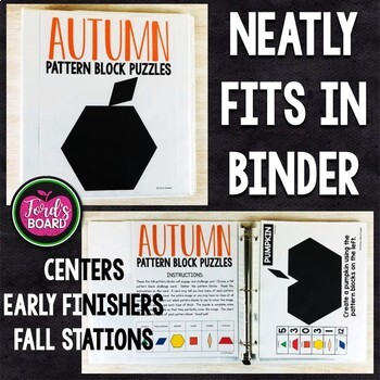 Fall Pattern Block Puzzles | Fall Pattern Block Challenge Cards