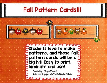 Fall Pattern Cards!
