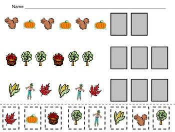 Fall Pattern Independent Practice for Kindergarten-1st Grade