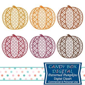 Fall Patterned Pumpkin Silhouette Clip Art For Autumn, Tha