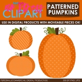 Fall Patterned Pumpkins Clip Art (Digital Use Ok!)