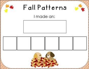 Fall Patterning:8 Differentiated Centers and Activities
