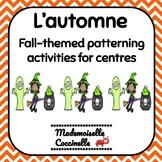 French Patterning Centres (Fall) / Les Suites  / Les Régularités d'Automne