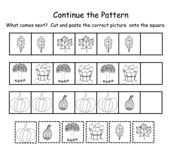 Fall Patterning Interactive Smartboard Lesson for K-1