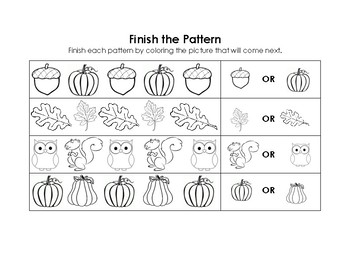 Fall Patterning Printable