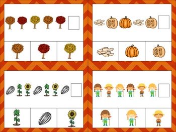 Fall Patterning ~ Work Mats and Task Cards