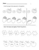 Fall Patterning Worksheet