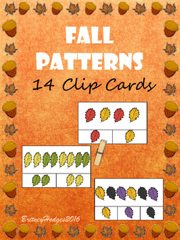 Fall Patterns Clipcards FREEBIE