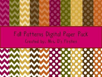 Fall Patterns Digital Paper Pack