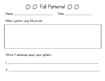 Fall Patterns - Drawing & Sentence Writing Activity