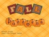 Fall Patterns- Pumpkins, Acorns, Leaves