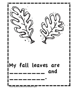 Fall Patterns and Class Book
