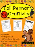 Fall Pennants Craftivity K-3