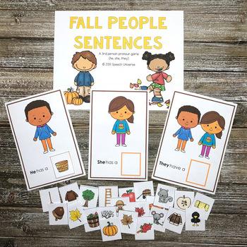 Fall People Sentences: Subjective Pronouns