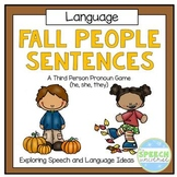 Fall People Sentences: Subjective Pronouns