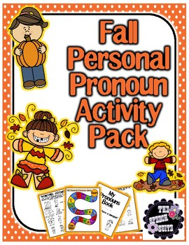 Fall Personal Pronouns Activity Pack