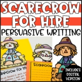 Fall Persuasive Writing Craftivity - Scarecrow for Hire