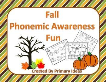 Fall Phonemic Awareness Fun