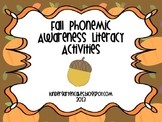Fall Phonemic Awareness and Alphabet Activities