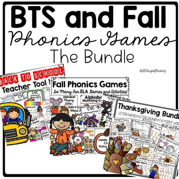 Back to School and Fall Phonics Games and Activities Bundle