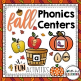 Fall Phonics Games and Centers - Level 1