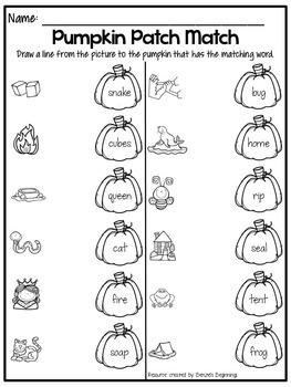 Fall Phonics Pack {short & long vowel words}