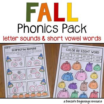 Fall Phonics Pack {letter sounds & short vowels}