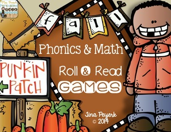 Fall Phonics and Math Roll & Read Games