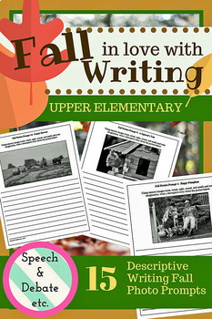 Fall Photo Writing Prompts for Upper Elementary
