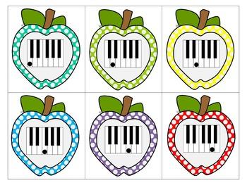 Fall Piano Keys Matching Game