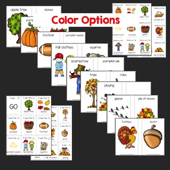 Fall Picture Card Game
