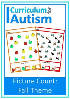 Fall Picture Count to 10, Autism, Special Education