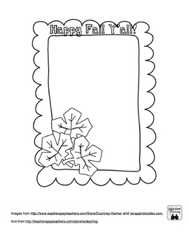 Printable Fall Picture Frame