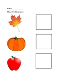 Fall Picture Matching Activity